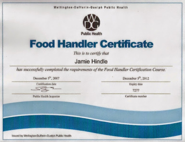 Food Safety Health And Hygiene Certificate