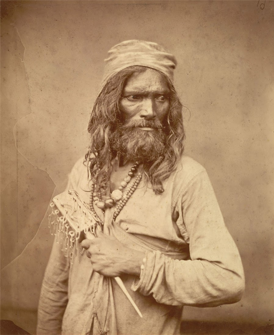 Portrait of a Muslim Ascetic (Madaria Faqir) - Eastern Bengal c1860