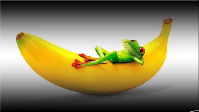 wallpaper animasi buah pisang