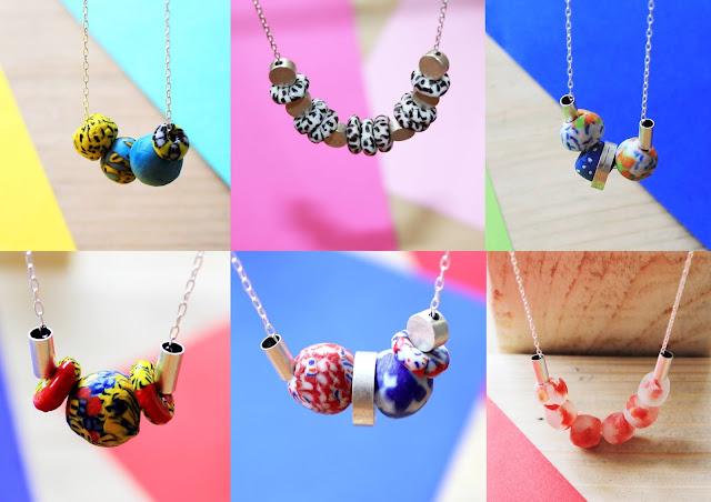 recycled glass jewellery, Ghanaian bead necklace, African bead necklace, African glass necklace, Minimalist glass bead necklace, Krobo bead necklace, ethically made necklaces, ethical glass necklace