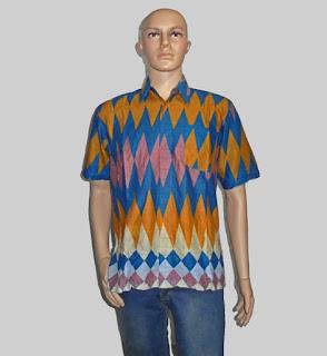 Baju Batik Pria, Hem Batik Rangrang [H880] Biru