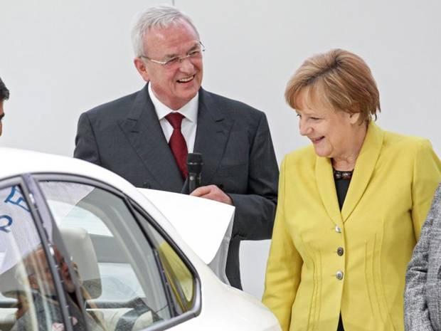 Martin Winterkorn EPA Ο, πρώην πλέον, CEO της Volskwagen, οι σχέσεις με τη Μέρκελ και η παραίτηση Martin Winterkorn, Merkel, VW, vw σκάνδαλο