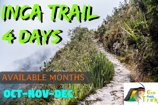 AVAILABLE SPOTS FOR CALSSIC INCA TRAIL 2018