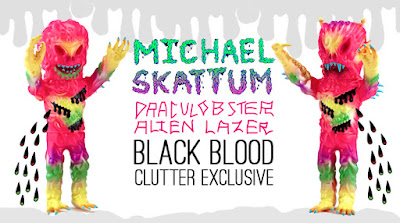 """Black Blood"" Alien Lazer & Draculobster Vinyl Figures by Michael Skattum x Clutter"