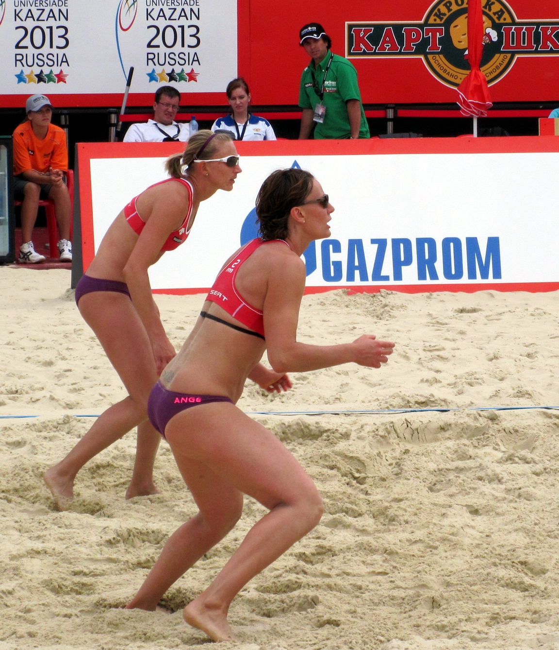 Beach Volleyball Defensive Line