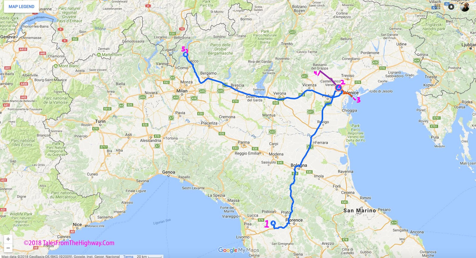 there plus our last drive from there to our current home in bellagio on lake como