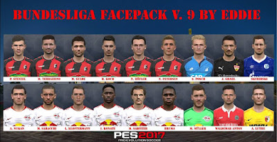 PES 2017 Bundesliga Facepack v9 by Eddie Facemaker