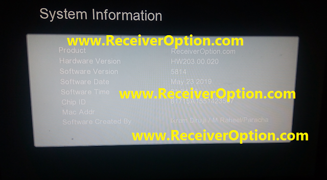GX6605S HW203.00.020 HD RECEIVER CLINE OK NEW SOFTWARE