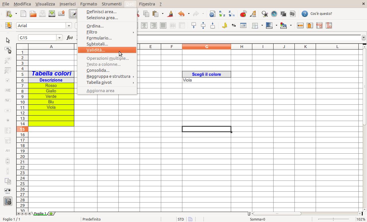 Inserire Calendario In Excel Menu A Tendina.Openoffice Libreoffice Come Creare Una Lista Di Valori Da