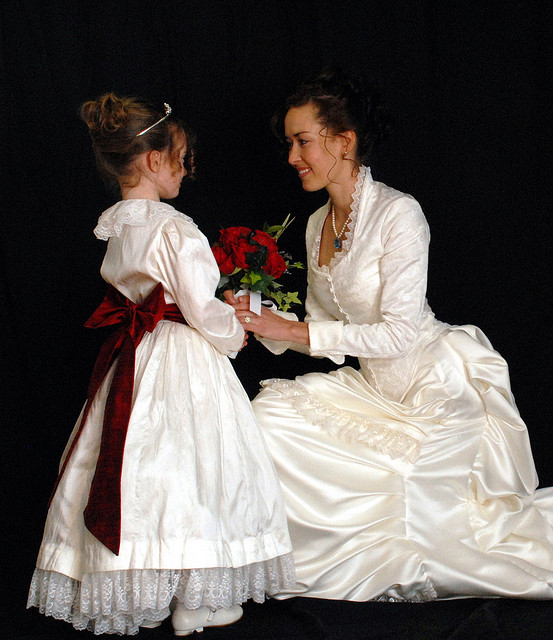 White Victorian Wedding Dress