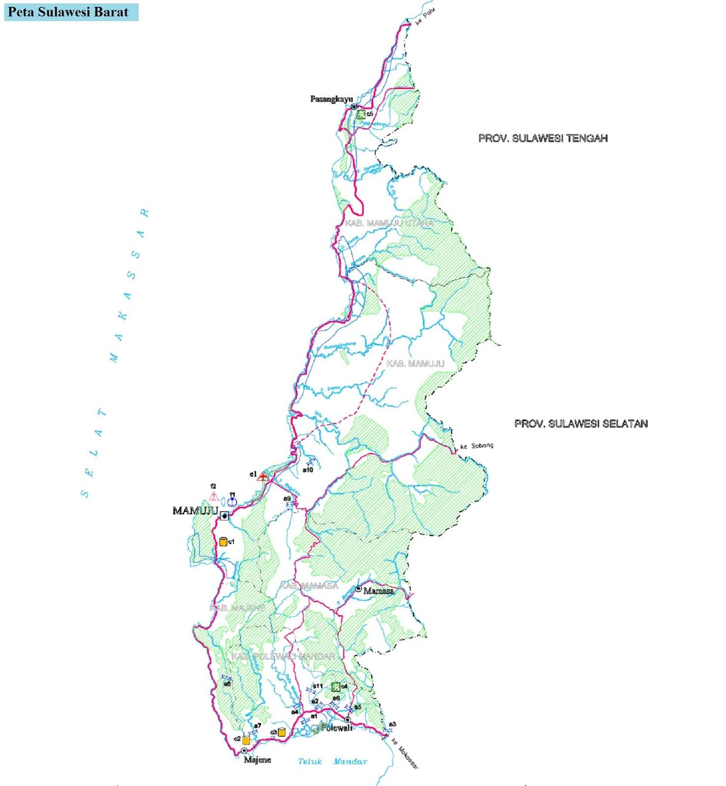Peta Sulawesi Barat HD