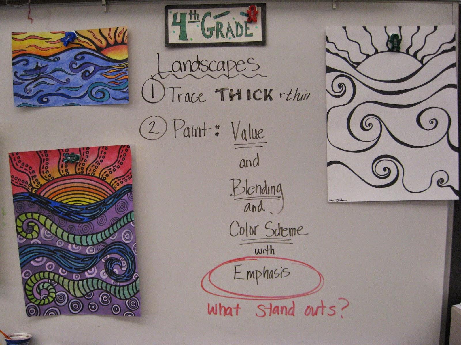 Jamestown Elementary Art Blog 4th Grade Landscapes