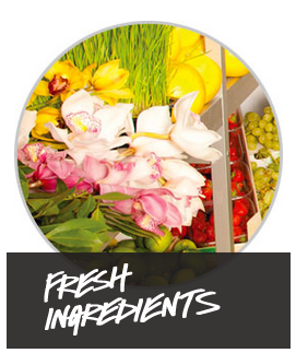 cosmetics with fresh ingredients