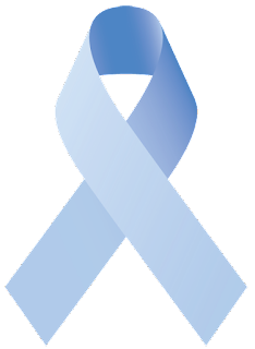 What Does The Light Blue Ribbon Stand For?