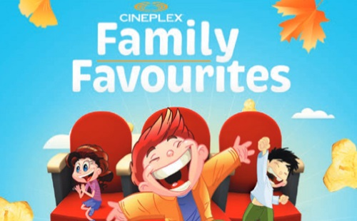 Cineplex Family Favourites Listing