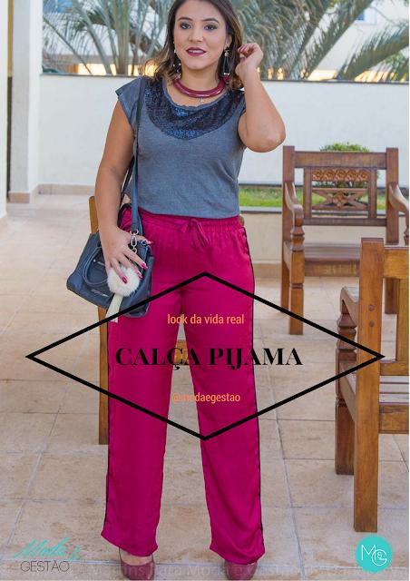 Calça pijama cor vinho: estilo casual , look confortável