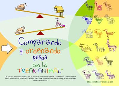 COMPARAR E ORDENAR PESOS COS FREAK-ANIMAL