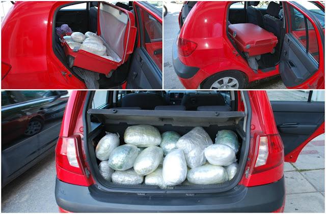 Συνελήφθησαν στη Νεράιδα Θεσπρωτίας και στην Ελεούσα Ιωαννίνων, δύο ημεδαποί, για μεταφορά 47 κιλών κάνναβης (+ΦΩΤΟ)
