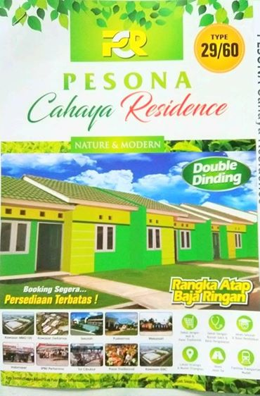 Rumah Subsidi DP Cuma 2 Jutaan DI Cikarang Bekasi Perumahan Pesona Cahaya Residence