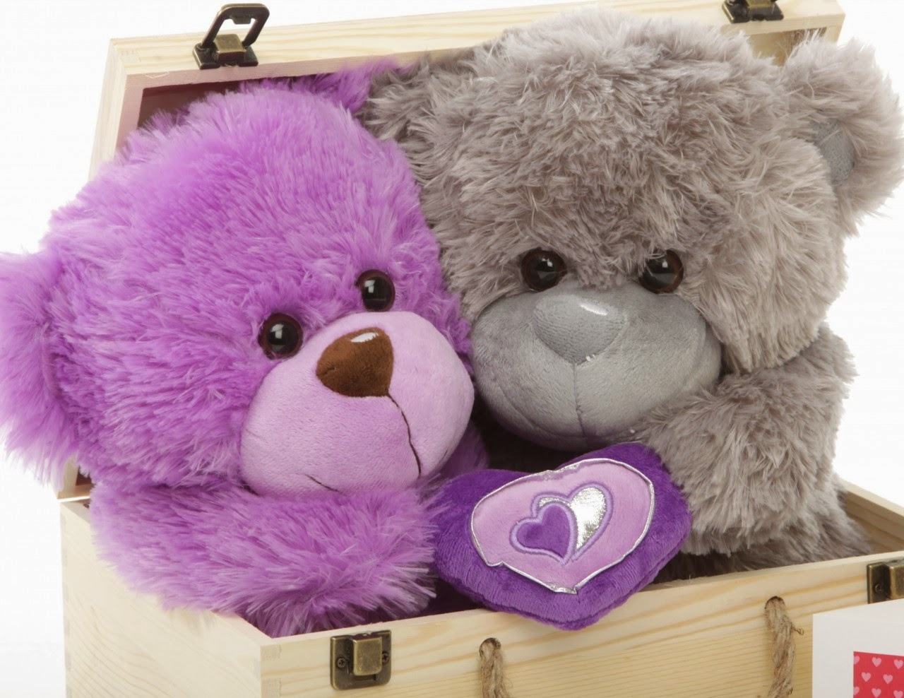 Purple Teddy Bears With Hearts Wwwpixsharkcom Images
