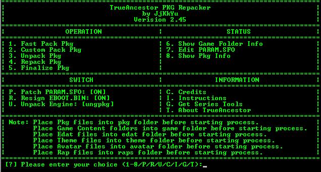 Download TrueAncestor PKG Repacker - v2 45 Cara Membuat File PKG