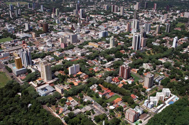 imagem aérea de Foz do Iguaçu
