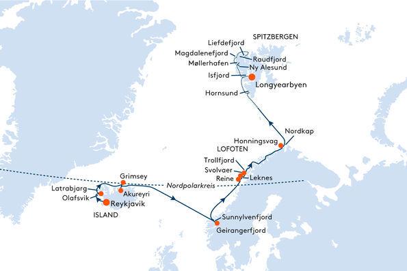 Expedition Island Norwegen Spitzbergen