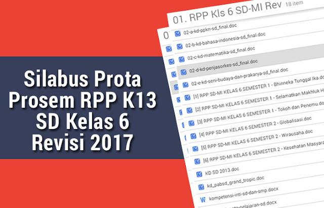 Silabus Prota Prosem RPP K13 SD Kelas 6 Revisi 2017