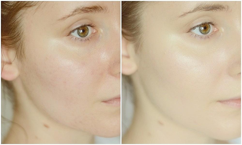 amilie mineral cosmetics satin podkład mineralny rozświetlający podkład mineralny dla suchej skóry  z bliska podkład który się nie warzy zdrowy blask glow  (3)
