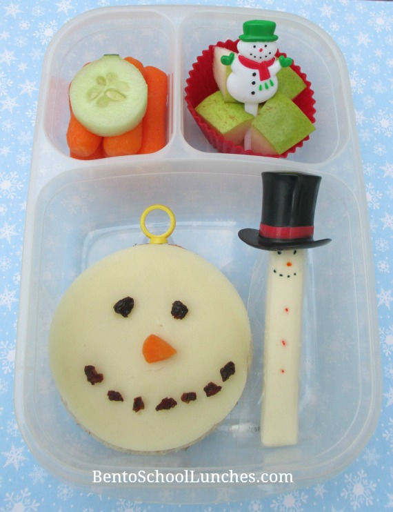 Snowman Ornament Bento Lunch