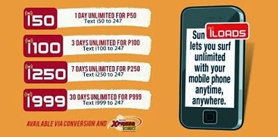Sun Cellular Unlisurf Promo using Pocket Wi-Fi Stick, Broadband and Mobile