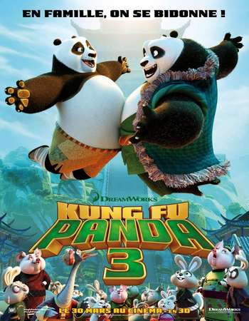 Poster Of Kung Fu Panda 3 2016 English 300MB BRRip 720p ESubs HEVC Free Download Watch Online Worldfree4u