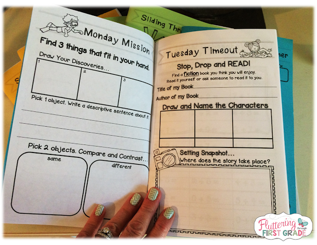 how to set up a reading log book