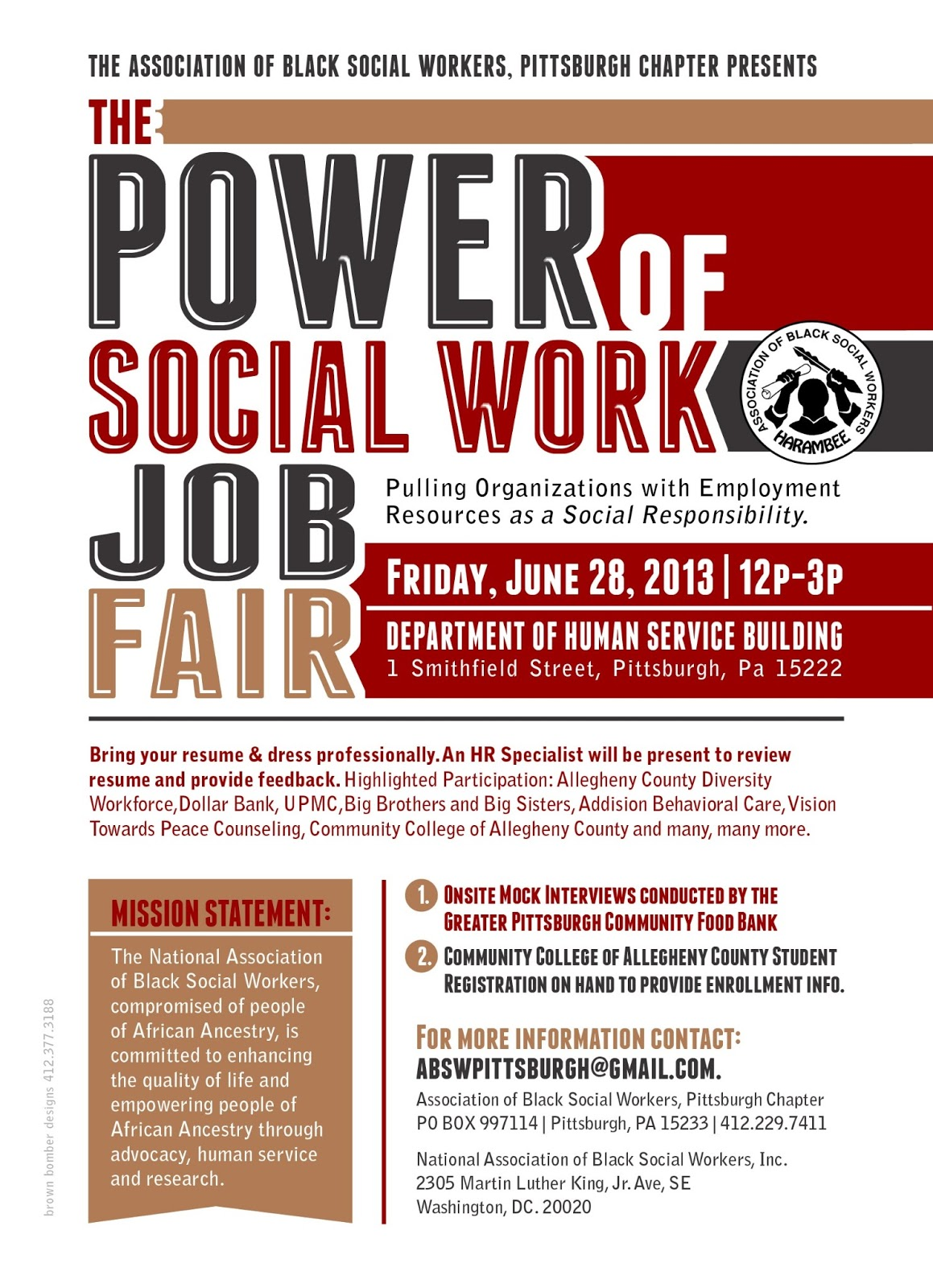 the psnk work bench  social work job fair pittsburgh career link