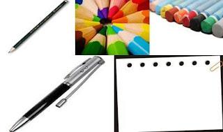 Pensil, Pensil Warna, Crayon, Bolpoin, Kertas Gambar