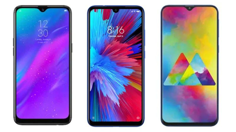 Redmi Note 7 vs Realme 3 vs Samsung Galaxy M20
