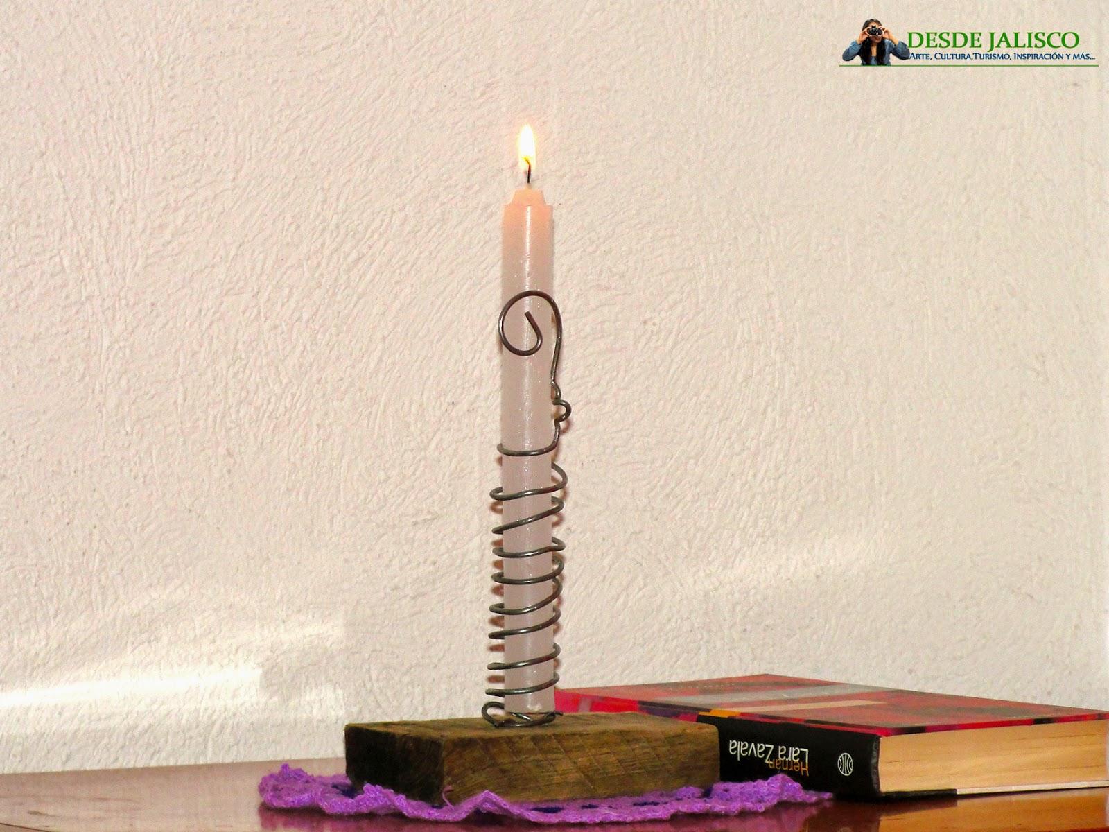 candelabor rústico1