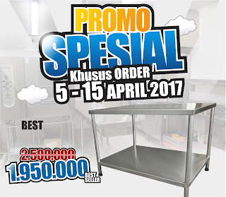Meja Stainless Steel Murah di Jogja, Promo April