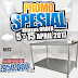 Meja Stainless Steel Murah di Jogja, Spesial Promo April