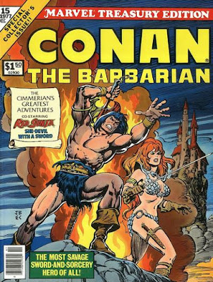 Marvel Treasury Edition #15, Conan the Barbarian, plus Red Sonja
