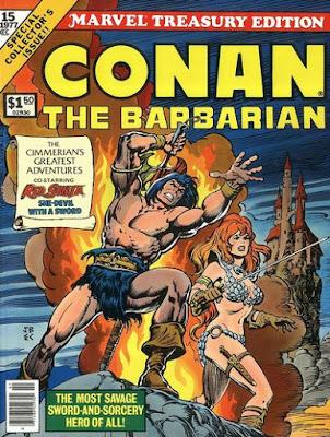Marvel Treasury Edition #15, Conan the Barbarian, plus Red Sonja