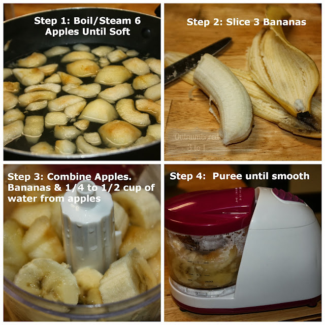 Infantino Fresh Squeezed Baby Food System Apple Banana Puree
