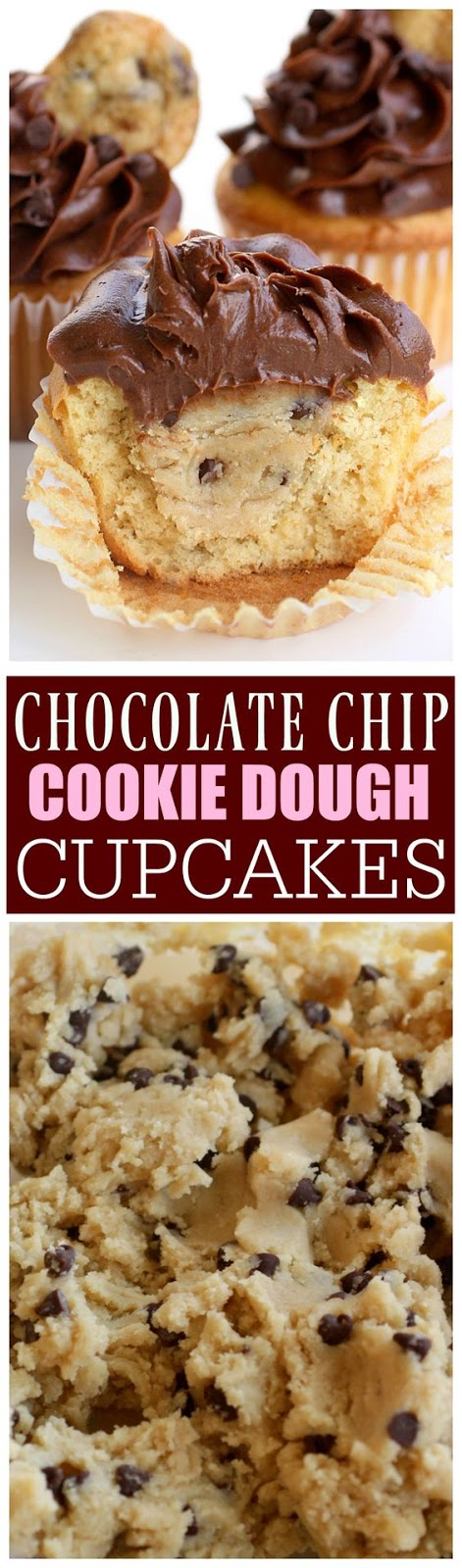 Cookie Dough Stuffed Cupcakes