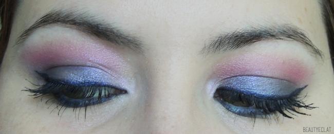 smoky intense rose violet bleu tutoriel pas a pas