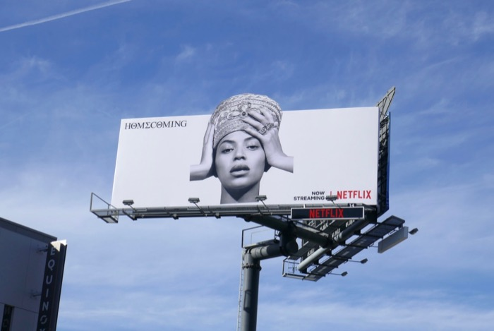 Beyoncé Homecoming billboard