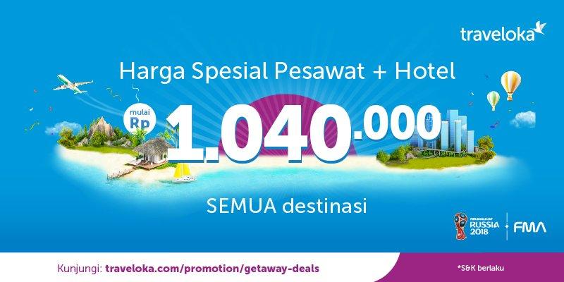 Traveloka - Promo Hemat 20% Harga Spesial Tiket Pesawat + Hotel