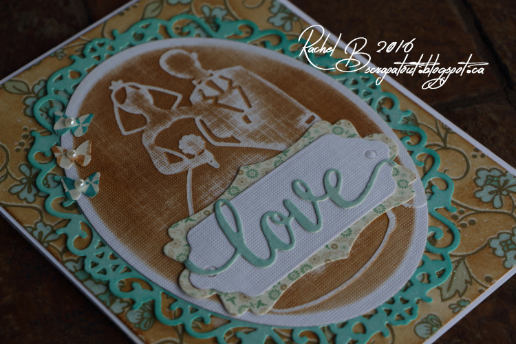 Scrapatout - Handmade card, wedding, Impression Obsession, Spellbinders, Darice