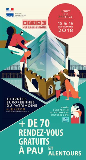 Journées du patrimoine Pau 2018 Pyrénées