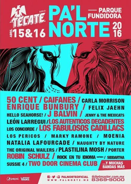 Festival Pal Norte 2016 en Monterrey boletos cartelera Line Up artistas primera fila VIP baratos