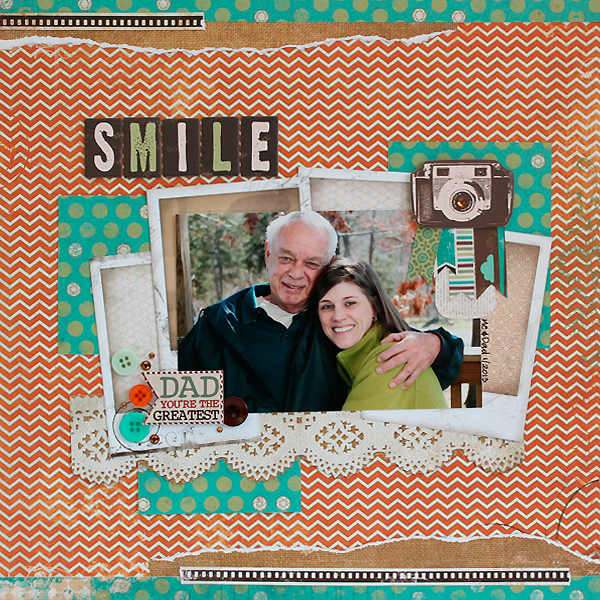 Smile Dad Layout by Juliana Michaels
